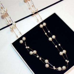 Λευκό προσομοιωμένο μαργαριτάρι - Κοσμήματα μόδας - Φωτογραφία 4
