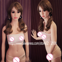 New 153cm adult doll japanese love doll with wig vagina anal oral three sex metal skeleton real silicone sex dolls