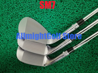 New SM7 Wedges Silver SM7 Golf Wedges Golf Clubs 48/50/52/54/56/58/60/62 Degrees Steel Shaft With Head Cover