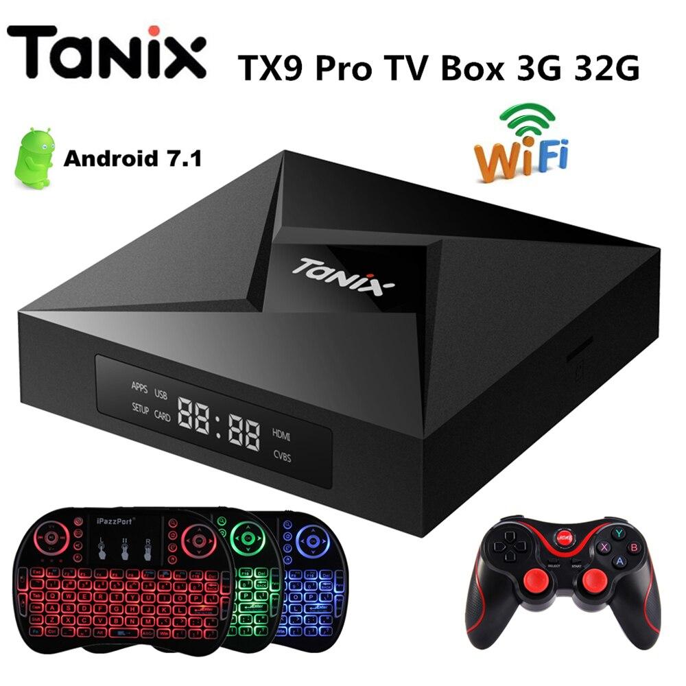 Tanix TX9 Pro TV Box Android 7.1 OS 3G RAM 32G ROM Amlogic S912 Octa-core BT4.1 1000 Mt LAN Media Player PK X96mini Set Top Box