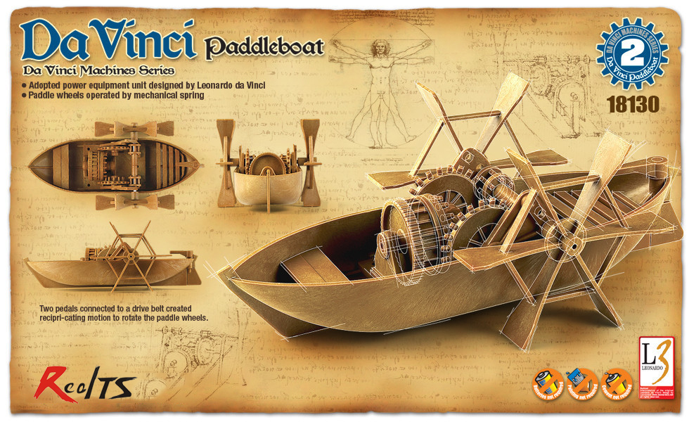 RealTS Akademi 18130 Paddleboat Da Vinci Makineleri Serisi Plastik Modeli KitiRealTS Akademi 18130 Paddleboat Da Vinci Makineleri Serisi Plastik Modeli Kiti