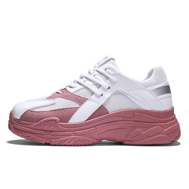 Лидер продаж Модные дышащие Для женщин спортивная обувь толстая подошва увеличить Для женщин Нескользящие кроссовки мягкие дышащие свинья Peggy обувь