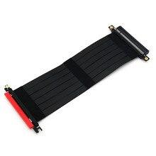 Pci express 3.0 고속 16x 유연한 케이블 확장 포트 어댑터 라이저 카드 pc 그래픽 카드 커넥터 케이블 24 cm 광업 용