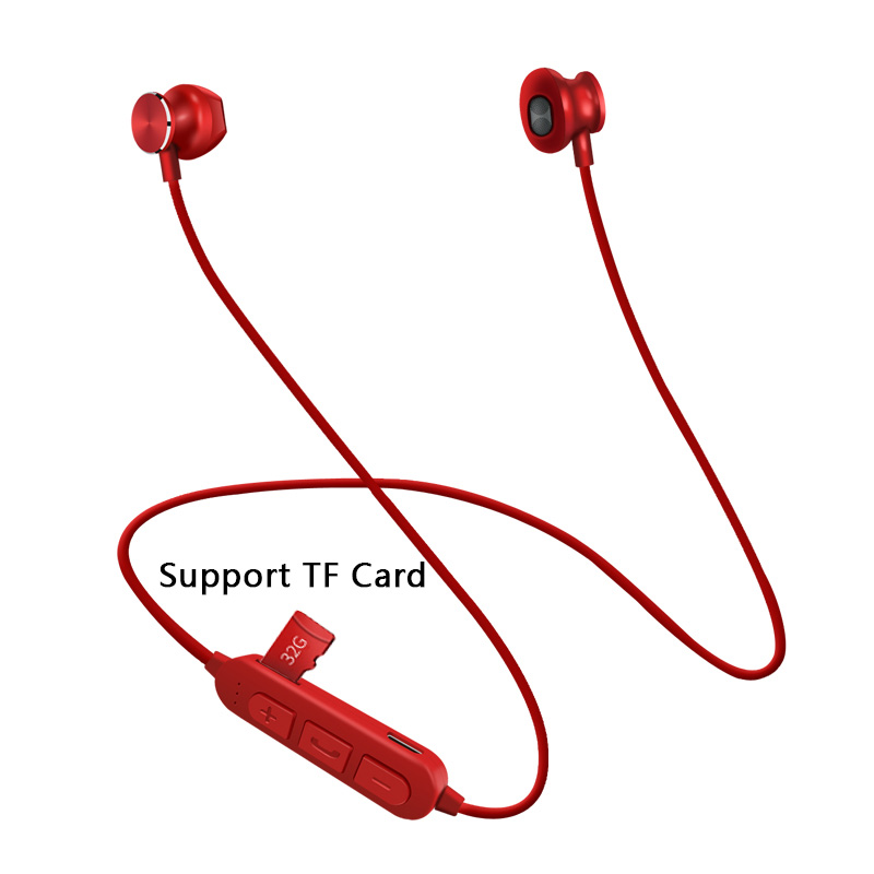 New Wireless Bluetooth Earphones Headphones Support TF Card Stereo Sports Headset Handsfree Earbuds with Mic for xiaomi Samsung : 91lifestyle