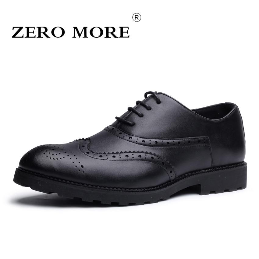Selbstlos Null Mehr Herren Schuhe Casual Formale Luxus Kleid Brogues Design Feste Schuhe Männer 2019 Spitze Up Heißer Verkauf Oxfords Schuhe Brogues In Vielen Stilen