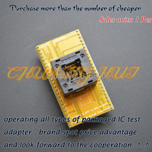 TQFP48 к DIP48 программист адаптер LQFP48 QFP48 тест гнездо=0.65 размеры, мм=6.9mmX8.6мм