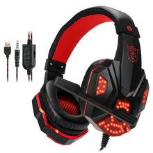 Купить с кэшбэком MO830 PS4 Headset Bass Gaming Headphones Game Earphones Casque with Mic Led Light for PS4 PC Mobile Phone New Xbox One Tablet