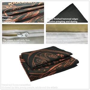 Image 4 - Zestaw pościeli 3D kołdra z nadrukiem pokrywa łóżko – zestaw ośmiornicy tekstylia domowe dla dorosłych realistyczne pościel z poszewka na poduszkę # ZY05