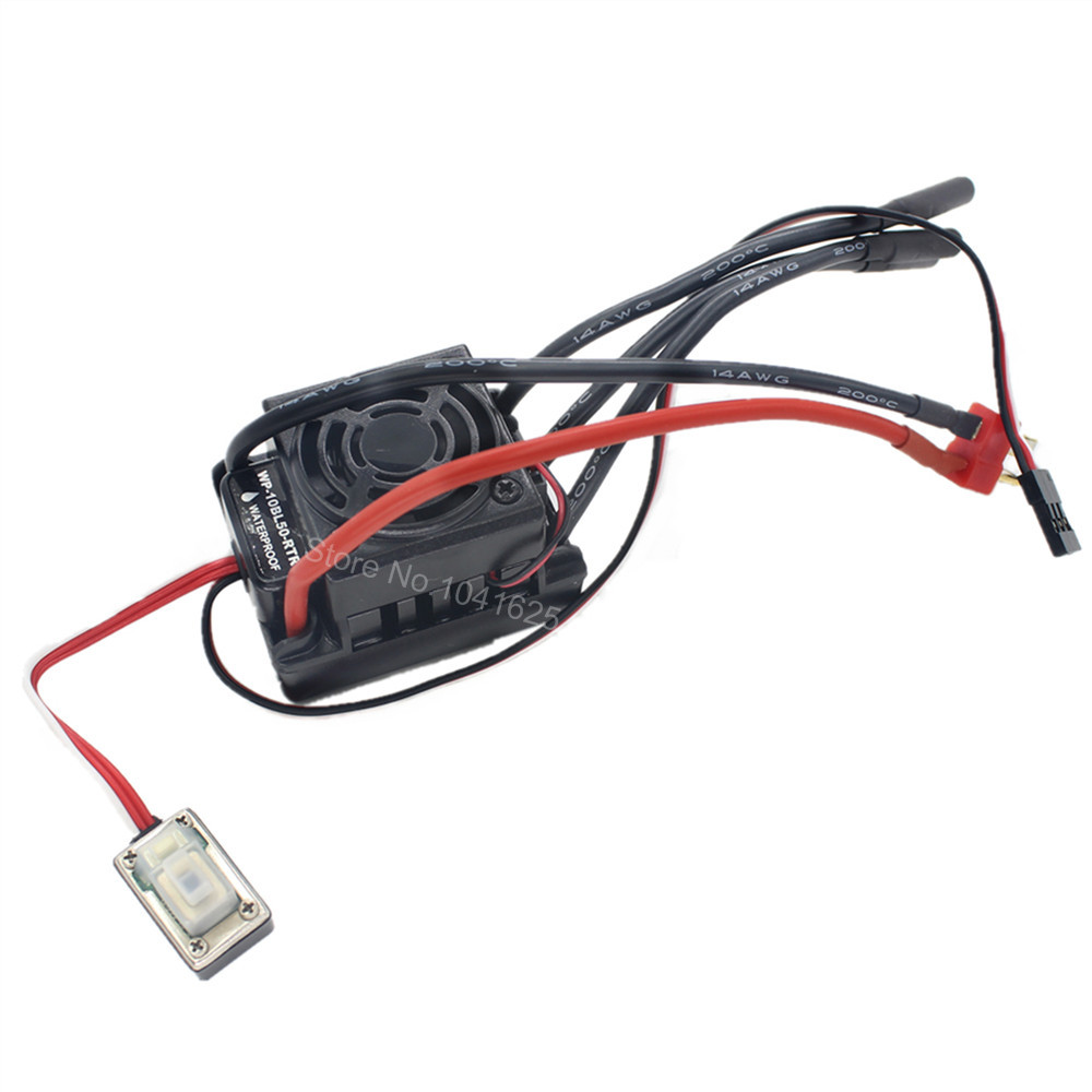 Waterproof 50A Brushless ESC Speed Controller WP-10BL50-RTR HSP 37017 (03307) 2-3S Lipo Pack Programmable for 1/10 RC Model Car makoday шерстяное платье футляр