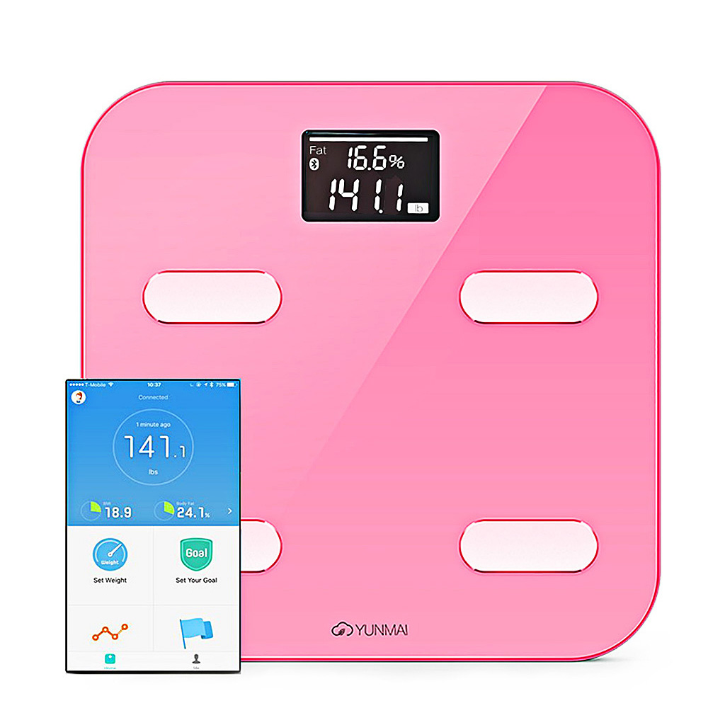 цена на YUNMAI M1302 Mini Body Fat Scale App Control Bluetooth Smart Body Fat Electronic Scale 10 Items Of Body Data Intelligent Scale