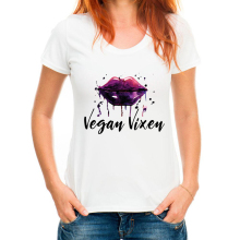 """Vegan Vixen"" women's t-shirt / girlie"