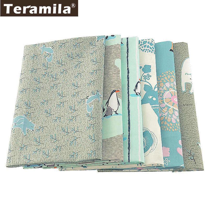 Teramila 氷動物デザインテキスタイル寝具ツイル DIY パッチワーク Telas 縫製素材綿キルティング生地 Tissu 6 ピース/ロット