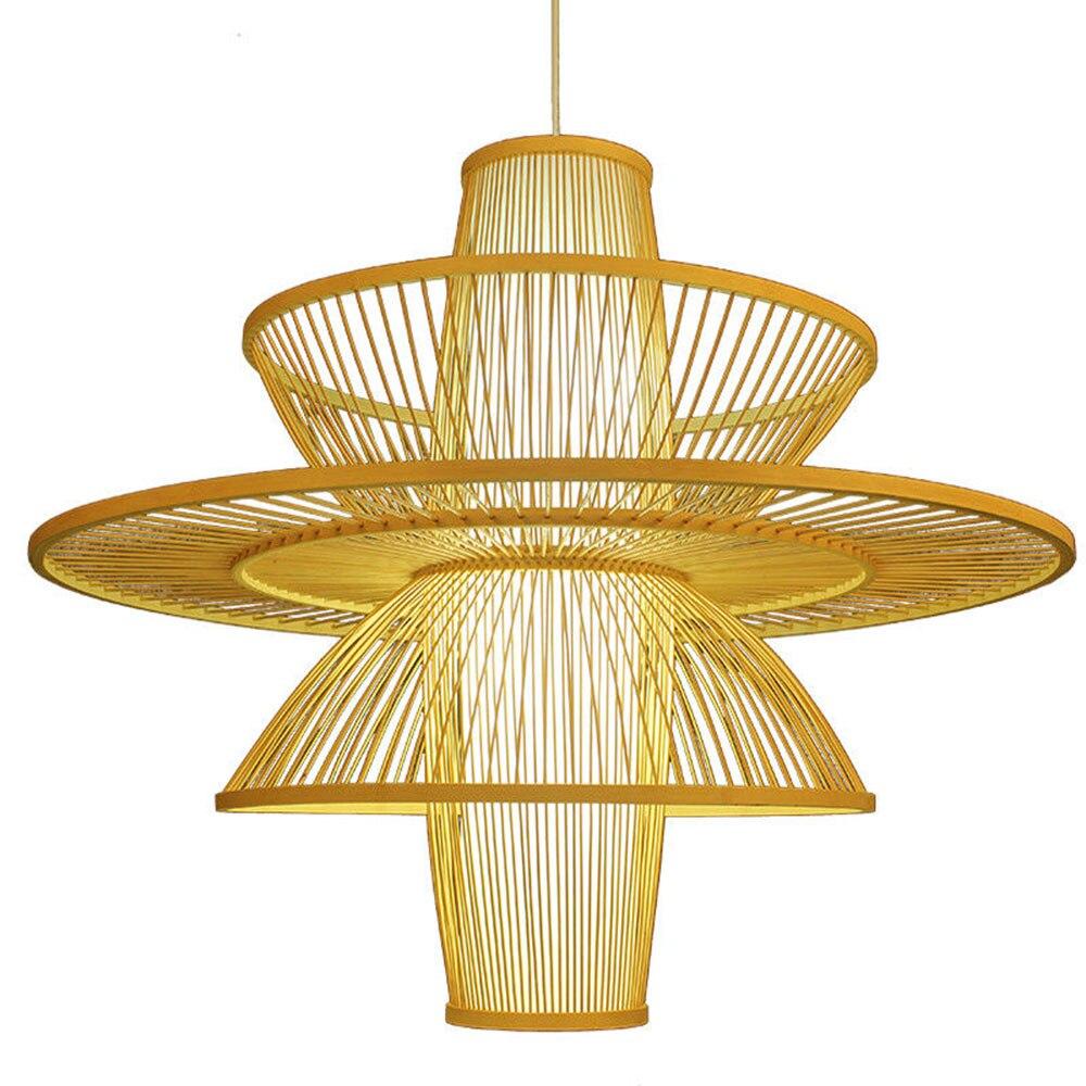 Современные бамбуковая Подвесная лампа 100% ручной работы Подвеска лампы светильник новый для Гостиная Кухня комнаты Спальня огни B055