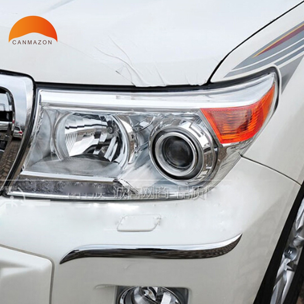 цена на For Toyota Land Cruiser LC200 FJ200 2013 2014 CHROME FRONT CORNER FOG LIGHT BUMPER GUARD TRIM PROTECTOR COVER BEZEL