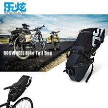 ROSWHEEL 8L Bike Tail Bag Bicycle Seatpost Bag Waterproof Bike Saddle Tube Seat Storage Pannier Cycling MTB Road Bike Rear Pack