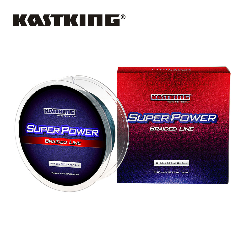 KastKing SuperPower Series 300m 500m 1000m 4 Strand 10 50LB Braided ...
