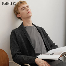 Markless Knitted Cardigan Men 2018 Autumn Winter Thick Warm Cardigan Knitting Sweater Men sueter hombre pull homme MSA8712M