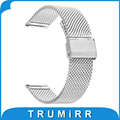 "18mm banda para huawei watch asus zenwatch 2 milanese mulheres (1.45 ""/45mm) 2015 smartwatch cinta de malha inoxidável pulseira de aço"
