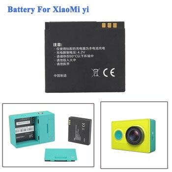 Alta calidad 1010 mAh Xiaomi yi batería accesorios Li-ion batería de repuesto para Xiaomi Yi acción Soprt accesorios de batería de la cámara