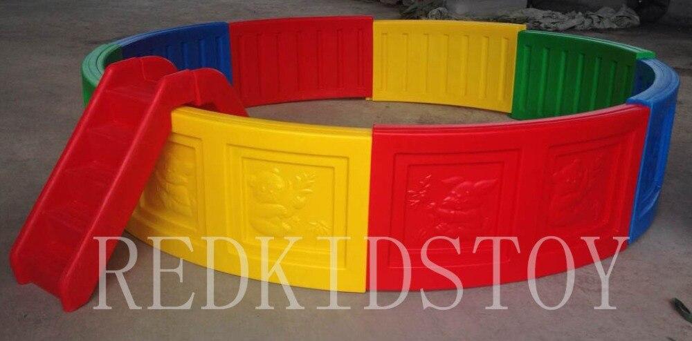 CE approuvé en plastique aire de jeux enfants en plastique piscine à balles avec échelle HZ-202