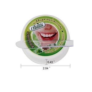 Image 3 - 25 جرام العشبية القرنفل النعناع معجون الأسنان تايلاند الأسنان تبييض الأسنان إزالة الأسود الأصفر وصمة عار الأسنان مضاد للجراثيم حساسية هلام