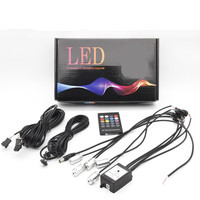 5m 7m RGB Car Cold Lights Flexible Neon EL Wire Auto Lamps On Car With RF