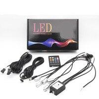 5 m 7 m RGB Xe Lạnh lights Linh Hoạt Neon EL Wire Tự Động đèn trên Xe với RF Từ Xa Strips Dòng Nội Thất đèn Trang Trí 12 V