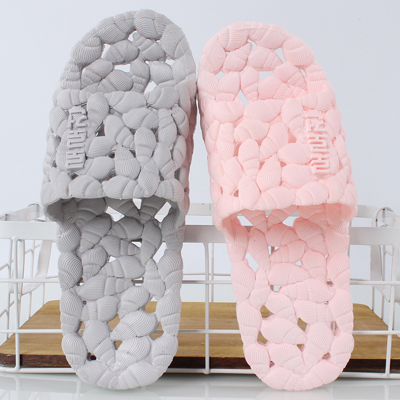 Bathroom slippers female summer couple home male leaking plastic soft leaking slippers 2018 natural tropical royal cane couple home slippers rattan straw weave female slippers bamboo rattan summer slippers