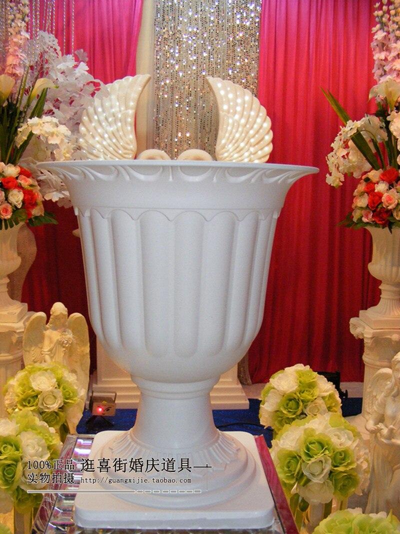 Decorative Peacock Pitcher Jug Artificial Flowers Vase Pot Wedding Decoration