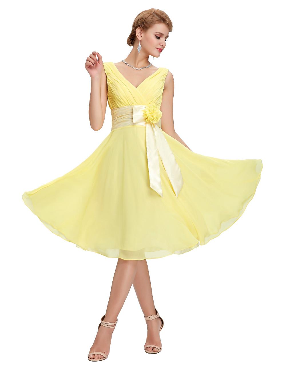 HTB1SA64MVXXXXavXpXXq6xXFXXXqKnee Length Short Chiffon Blue Dress