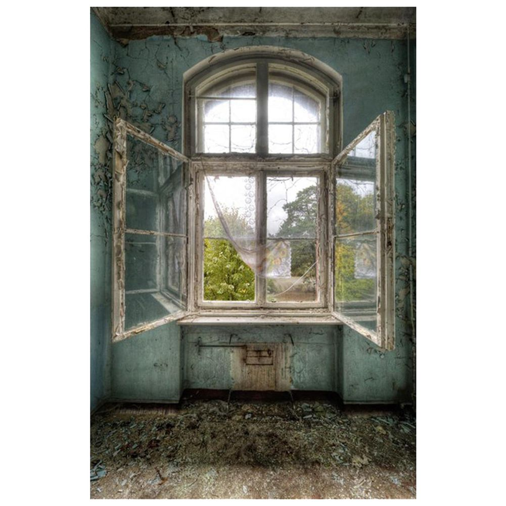 1pcs Retro wall window Vinyl Photography Backdrop Photo Background Props