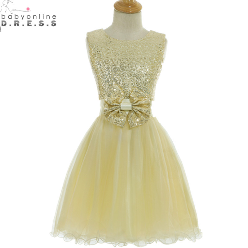 Vestidos de Primera Comunion Cheap Sequined Tulle   Flower     Girl     Dresses   for Weddings First Communion   Dresses   for   Girls