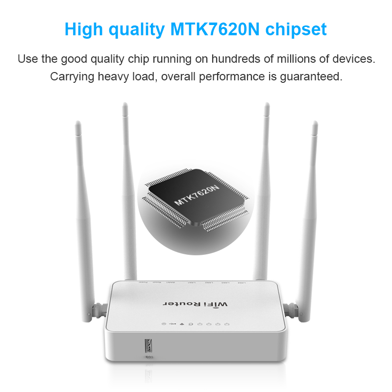 Cioswi Wireless WiFi Router 300Mbps 802 11b/g/n MT7620N Chipset Usb wifi  signal repeater English firmware with OpenWrt Router