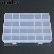 Imixlot 24 Compartments Transparent Plastic Storage Box Case Jewelry Beads Findings Craft Organizer Home Supplier