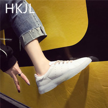 HKJL Fashion Jelly shoes for women spring 2019 new transparent small white running with cubs soles A590