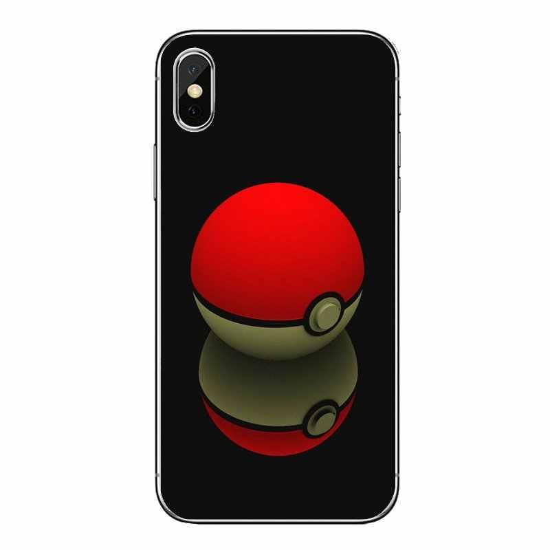 赤白 Pokemons PokeBall ボールおもちゃバロールミスティックチームノキア 2 3 5 6 8 9 230 3310 2.1 3.1 5.1 7 プラスシリコーン電話バッグケース