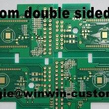 1 шт. custom 2 слоя с печатной платой лучший Двусторонняя Прототип pcb от производственная мощность печатной платы