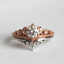 14K Rose Gold Crown Diamond Ring set Engagement Anillos peridot wed Bizuteria for Women topaz 925 Ring fine jewelry Gemstone caimao jewelry 14kt rose gold 2 31ct pink topaz and 0 24ct natural diamond engagement ring