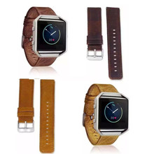 HOT WatchBands New 2016 font b Luxury b font GenuineLeather Watch band Wrist strap For Fitbit
