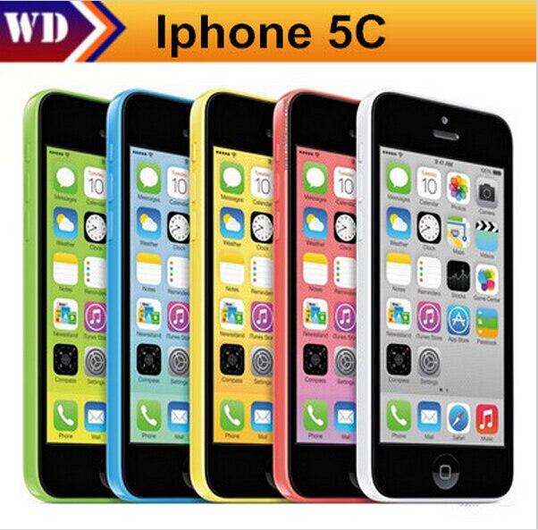 """Цена за Iphone 5c разблокирована оригинальный apple iphone 5c сотовый телефон 4 """"retina 1 ГБ ram 16 ГБ rom 8mp камера 1080 P wcdma"""