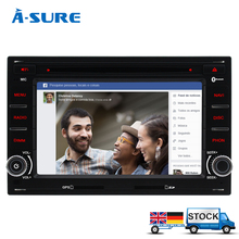 A-Sure In-Car DVD Player 2 Din GPS for VW PASSAT B5 JETTA BORA TRANSPORTER T5 GOLF 4 SHARAN FORD GALAXY SEAT Sat Nav Navigation
