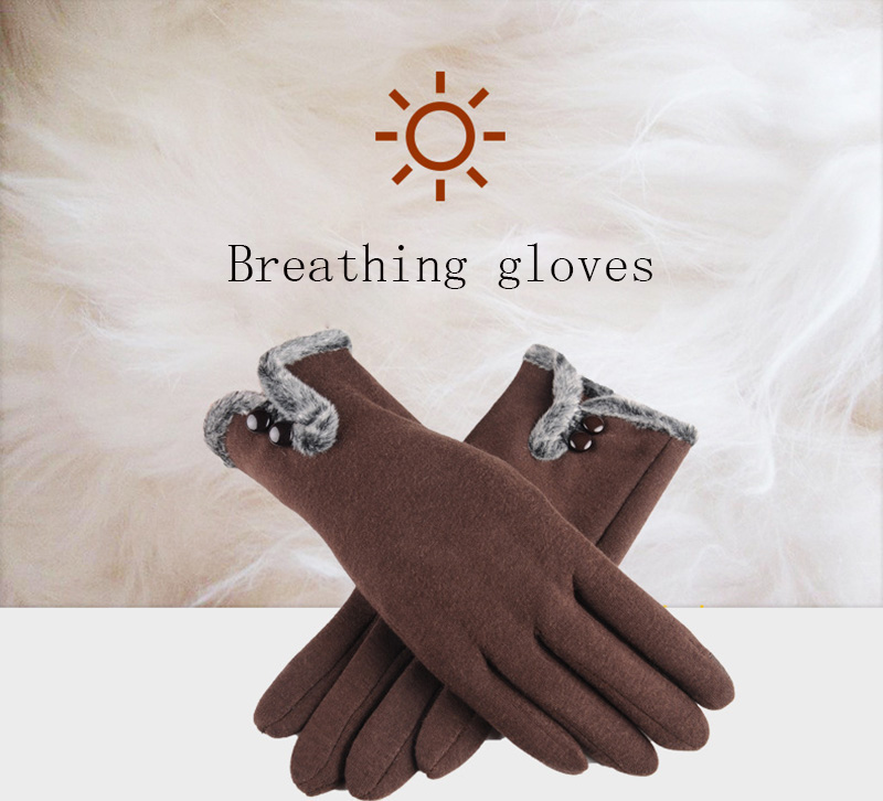 Comfortable and Warm Non Inverted Touch Screen Gloves for Women with Sensitive Touch Screen Function without Hand Exposing to Cold 10