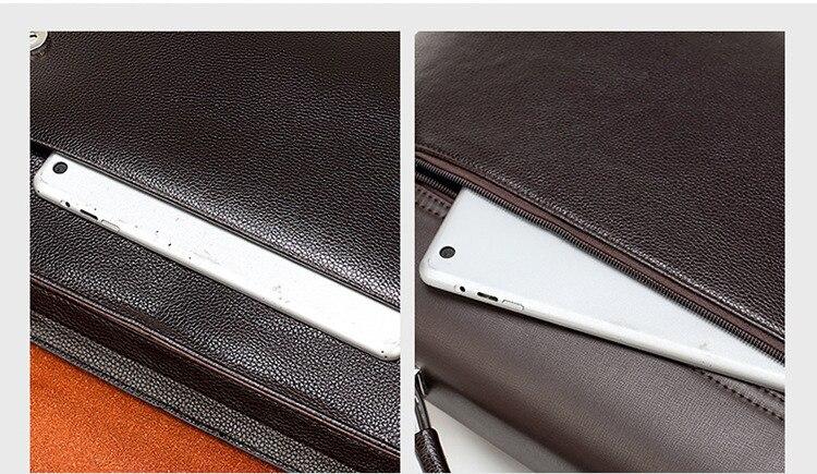 HTB1SA82SzDpK1RjSZFrq6y78VXae Famous Brand Business Men Briefcase Leather Laptop Handbag Casual Man Bag For Lawyer Shoulder Bag Male Office Tote Messenger Bag