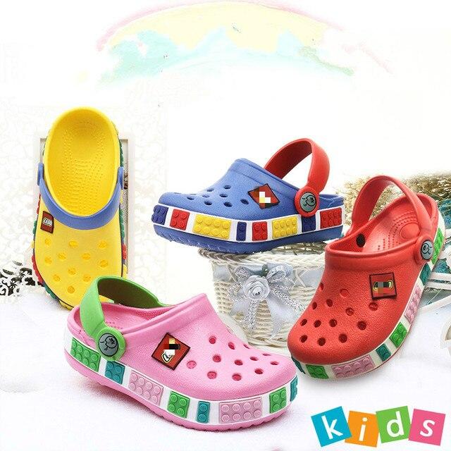 2019 New Summer Children Cave Shoes Boys Girls Outdoor Beach Slippers Kids Soft Flip Flops Breathable Light Toddler Slipper