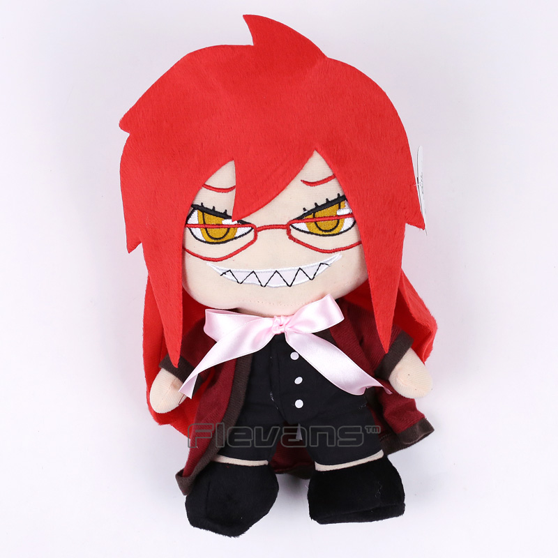 Anime Black Butler Grell Sutcliff Plush Toy Soft Stuffed Doll 32CM