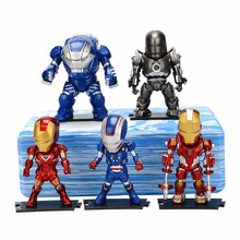 5pcs/set Hot Marvel 8-10cm Super Hero The Avengers action figure Toys Iron Man Thor Captain America Hulk thor toy
