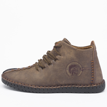 2019 New Keep Warm Winter Men Boots High Quality Split Leather Casual Men Shoes With Plush Fahsion Boots