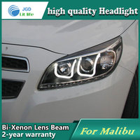 high quality Car styling case for Chevrolet Malibu 2012 2013 Headlights LED Headlight DRL Lens Double Beam HID Xenon