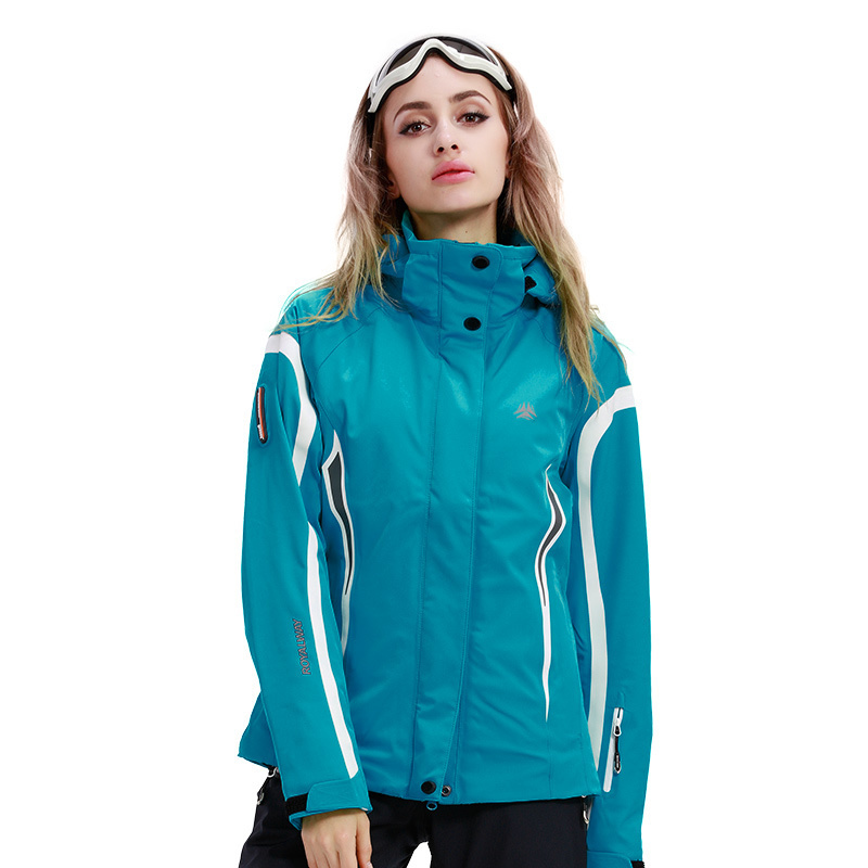 ROYALWAY Women Skiing Ski Jacket Hooded Windproof Mountain Hooded Snowboard Jacket Recco GPS Security Warm Coat#RFSL4517G ...