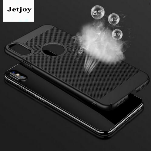 JETJOY Fashion Matte Plain Hard for Apple iPhone 10 ten X case Ultra Thin reathable Radiator shell Anti-Knock Sip-Resitant Cover